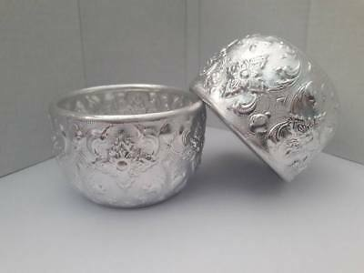 2 pieces Thailand Solid Silver Bowl, Put things on Thai traditional Thai art