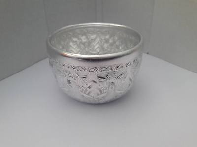 Thailand Solid Silver Bowl, Put things on Thai traditional Thai art