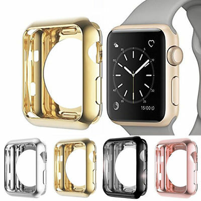 For Apple Watch Series 4/3 TPU Bumper iWatch Screen Protector Case Cover 38/44MM