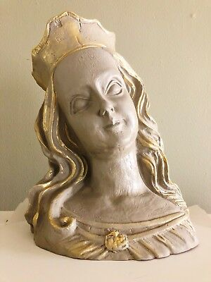 Gorgeous Antique Bust Statue Replique Women Head Heavy And Handpainted