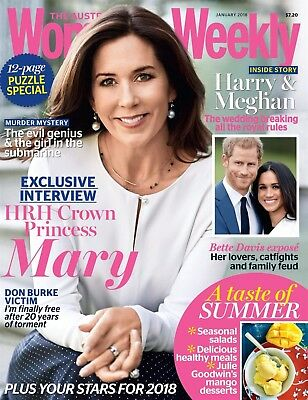 The Australian Women's Weekly: Jan 2018 Issue Princess Mary Cover - New