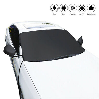 Magnetic Car Windscreen Cover Ice Frost Shield Snow Protect Sun Shade 215x125cm
