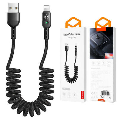 [MFi Certified] iSO 11 Coiled Lightning Cable iPhone 5 / 6 / 7 / 8 / 6 Plus/SE