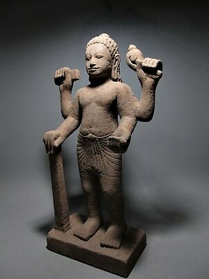Khmer Sculpture Sandstone Multi-Arms Deity Figure 'phnom Da Art' Relic 7/8Th C