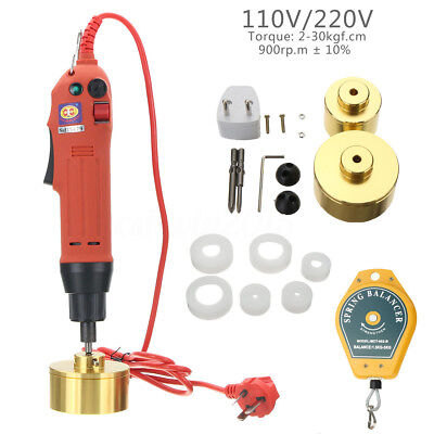 110/220V Handheld Electric Capping Machine Manual Bottle Cap Sealer Sealing Tool