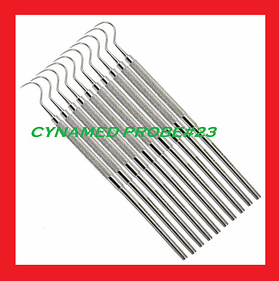 DS104 STAINLESS STEEL DENTAL PICK SINGLE END