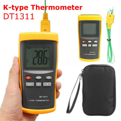 High Temperature K-Type Digital Thermometer Ceramic Sensor Probe Forge Crucible