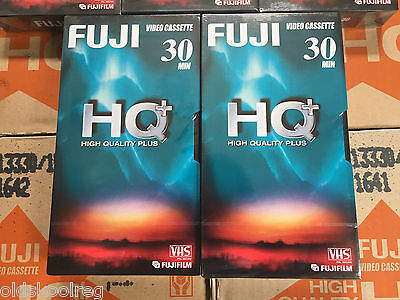 Lot Of 20 Sealed Fuji Hq+ High Quality Plus E30 30 Minute Video Cassette Tapes
