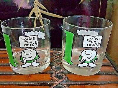 SET of 2 VTG Ziggy Glass Cup 1977 You're the One 1 Universal Press Syndicate
