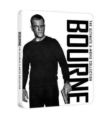 BOURNE  COLLECTION -   LIMITED STEELBOOK - 5 Blu-Ray - TUTTI I FILM