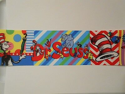 """Dr Seuss Cat In Hat Grosgrain Cheer Bow Ribbon 4 hairbow  3"""""""