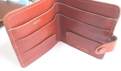 Vintage Leather wallet brown / tan Made In England