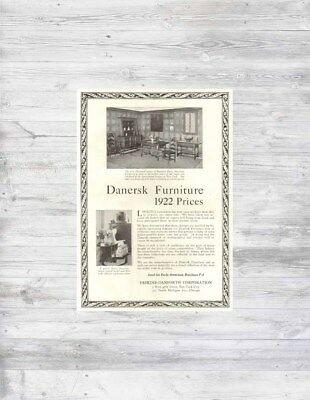 Antique 1920s Danersk Furniture Plymouth Early American Butterfly Table Chair Ad