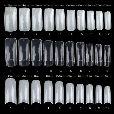 100pcs Professional Acrylic UV Gel Natural French Style False Nail Art Tips Tool