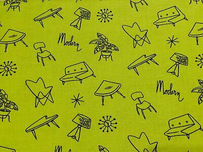 ✨Michael Miller MODERN HOME Mid Century Modern Atomic Fabric Rare Retired Eames