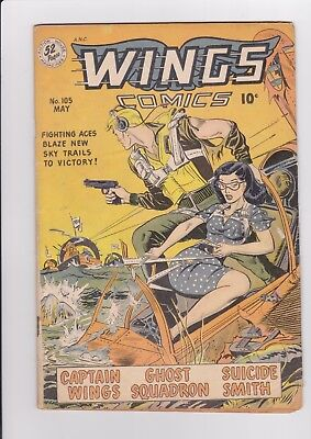 Wings Comics #105, May 1949, Fiction House, GGA VG- $4 combined shipping