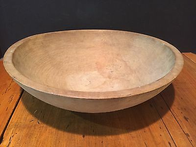 Antique Primitive Turned Wooden Chopping Bowl Munising c. 1940s