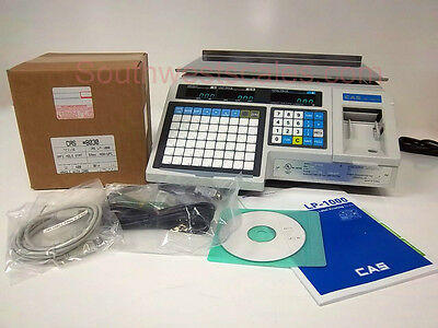 New CAS LP-1000N Label Printing Scale - Free Shipping + Case of 8030 Labels!