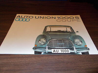 1960s Auto-Union 1000S Coupe Color Sales Brochure
