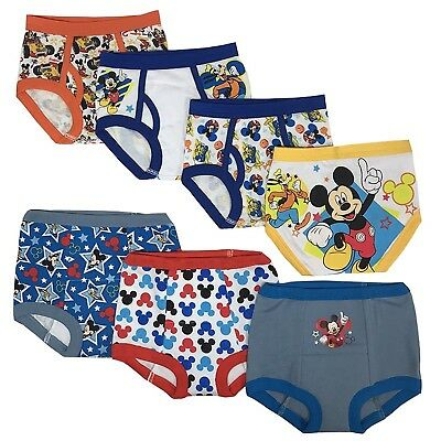 Mickey Mouse Toddler Boys' 3pk Training Pants and 4pk Briefs COMBO PACK