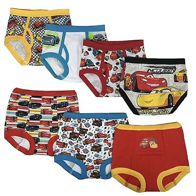 Disney Cars Toddler Boys' 3pk Training Pants and 4pk Briefs COMBO PACK