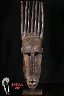 "Bamana N'Tomo Mask 26"" with Custom Mount - Mali - African Art"