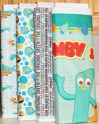 Gumby & Pokey Panel & Fabric Collection  SOLD SEPARATELY    SALE