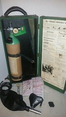 Vintage Ohio Chemical & Surgical Equipment Co  Emergency Oxygen Unit
