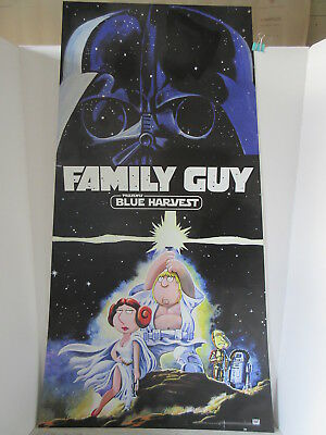Large 2008 Family Guy Presents Blue Harvest Vinyl Store Display Sign