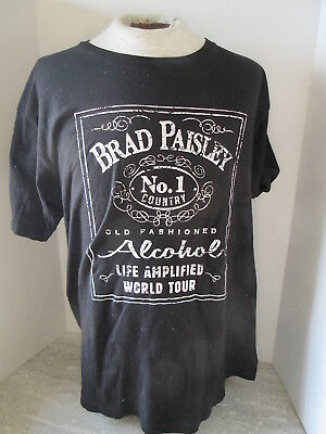 Brad Paisley 2016 Life Amplified World Tour Jack Daniels Style T-Shirt