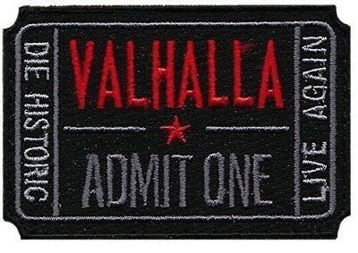 Patch Squad Men's Ticket to Valhalla Morale Military Tactical Vikings Mad Max Pa
