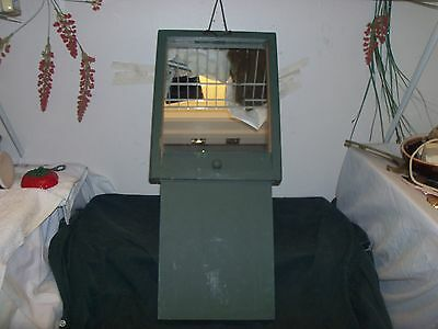 1920's 30's Made~United States Military Barracks~Collapsible Wooden Mirror