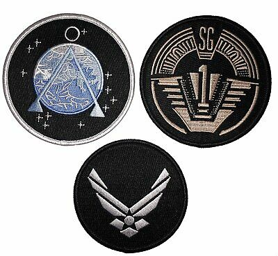Stargate SG-1 Embroidered Patches (Set of 3)