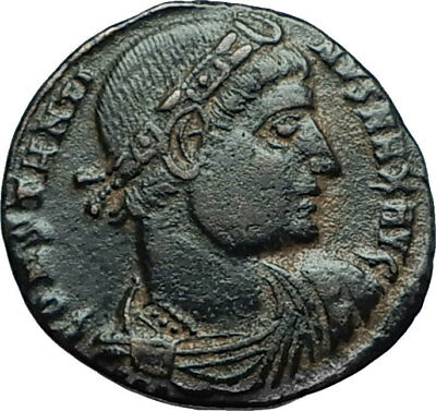 CONSTANTINE I the GREAT 330AD Authentic Ancient Roman Coin w SOLDIERS i66290