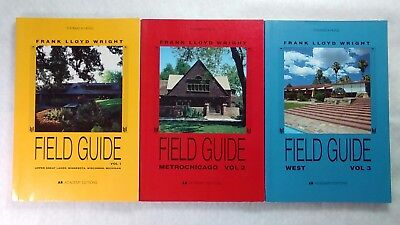 Lot of 3 Frank Lloyd Wright Field Guide books Volumes 1, 2, 3 [Architecture]