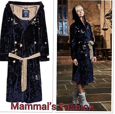 Ladies Primark Harry Potter Velvet Dressing Gown With Robe With Hood