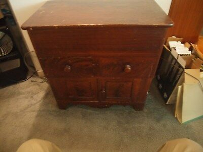 Antique Lift Top Commode Wash Stand ORIGINAL Finish  REDUCED