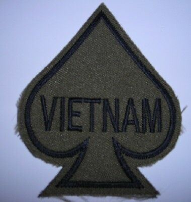 Vietnam Ace of Spades Embroidered  Patch 3""