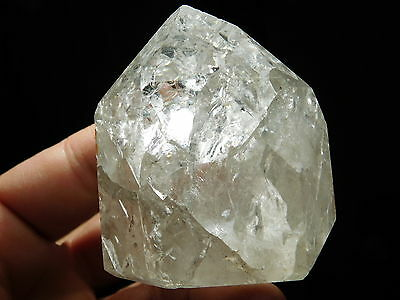 A BIG! Semi Translucent Polished Fire and Ice Quartz Crystal From Brazil 235gr