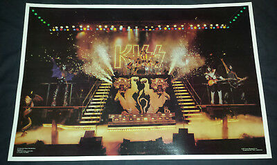 Kiss: Poster Alive 2 stage shot 1977