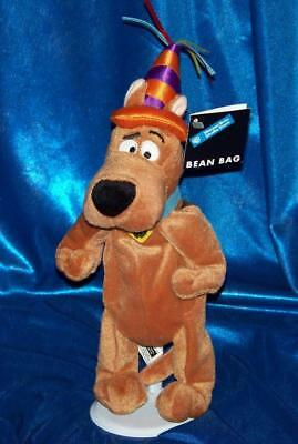 Hanna Barbera SCOOBY DOO BIRTHDAY bean bag plush Warner Bros beanie toy NEW