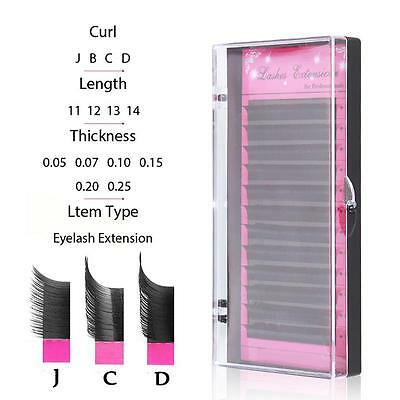 3D Volume Individual Blink Tray Lash 0.07mm C D Curl False Eyelash Extension