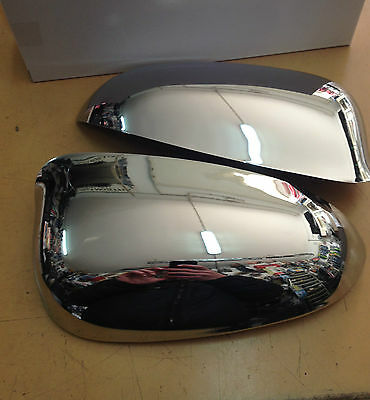 Pair Set Caps Mirror Lancia Ypsilon 5 Doors From 2011 R+L Chrome New
