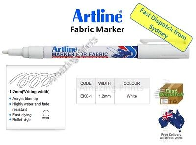 Artline White Fabric Laundry Marker pen ( NO iron on personlised name label )