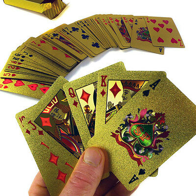 24K Carat Gold Plated Poker/Rummy Collectible Luxury Pimp Playing Cards. NEW!