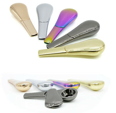 1PCS Portable Spoon Smoking Pipe Magnetic metal Tobacco Accessories