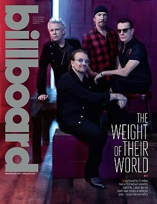 Billboard magazine U2 BONO Songs of Experience Mariah Carey NEW