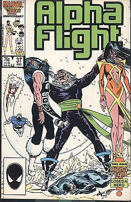 Marvel Alpha Flight 37 August 1986 Death Birth Mantlo