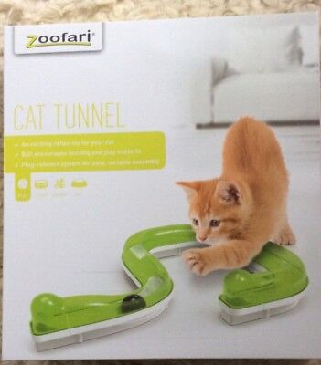 exciting reflex toy for cat, encourages play, ball in tunnel to chase