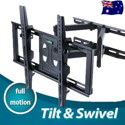 "Heavy Duty Full Motion Swing Arm Wall Mount TV Bracket 32 42 48 50 55"" Load 45KG"